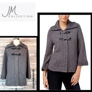 NWT JM Collection Toggle Cardigan, Size XL